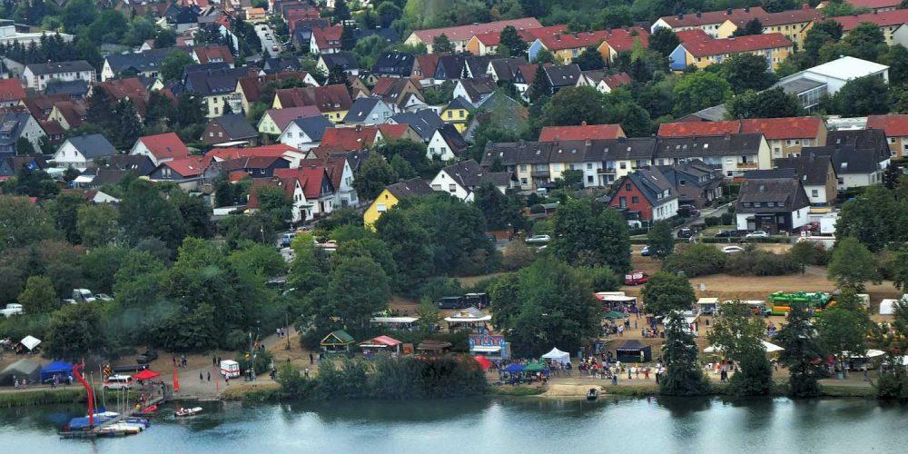 Aus dem Hubschrauber Vienenburger Seefest 2018