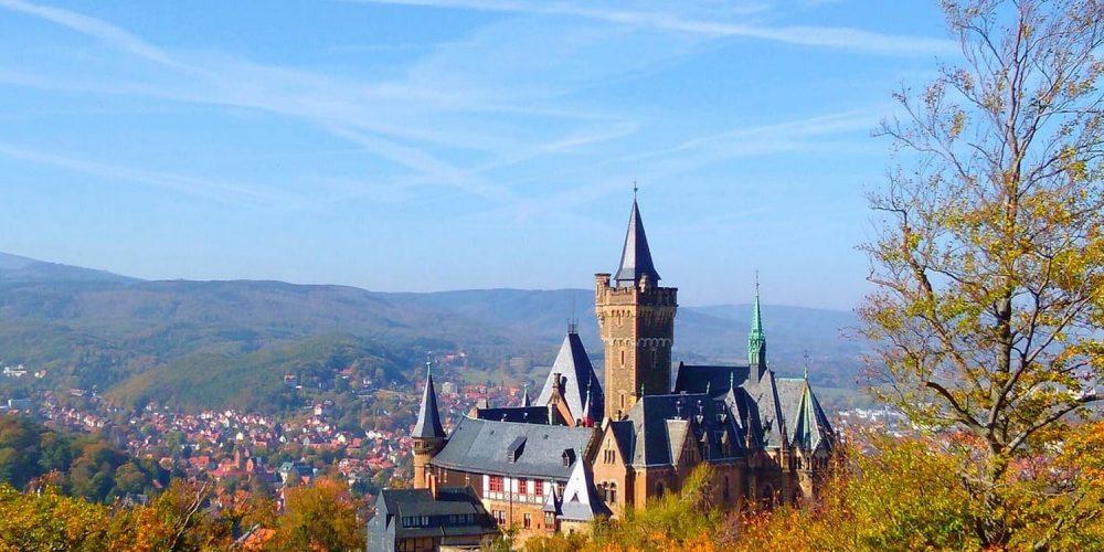 Blick vom Agnesberg auf das Schloss