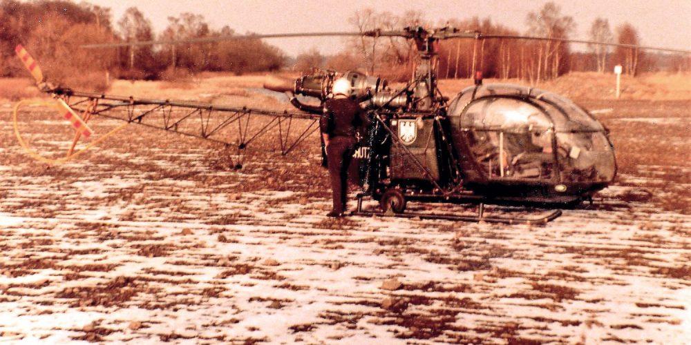 Grenzschutz Helikopter bei Wiedelah