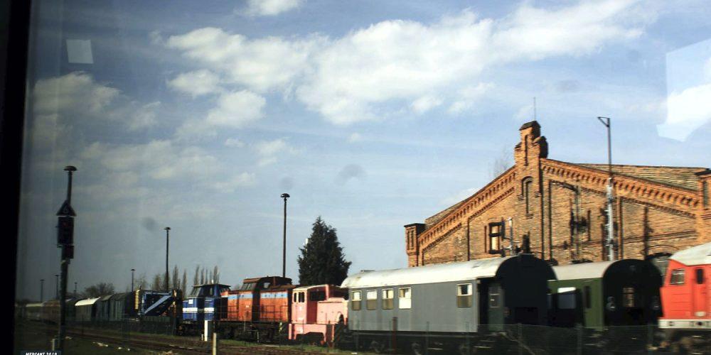 Auf der Fahrt von Aschersleben nach Halberstadt
