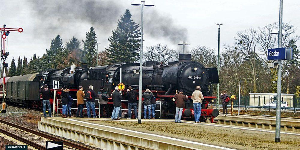 Dampflok am Goslarer Bahnhof