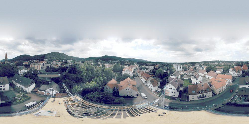 wenige Meter über dem Neubau Schmiedestr. 11 in Bad Harzburg