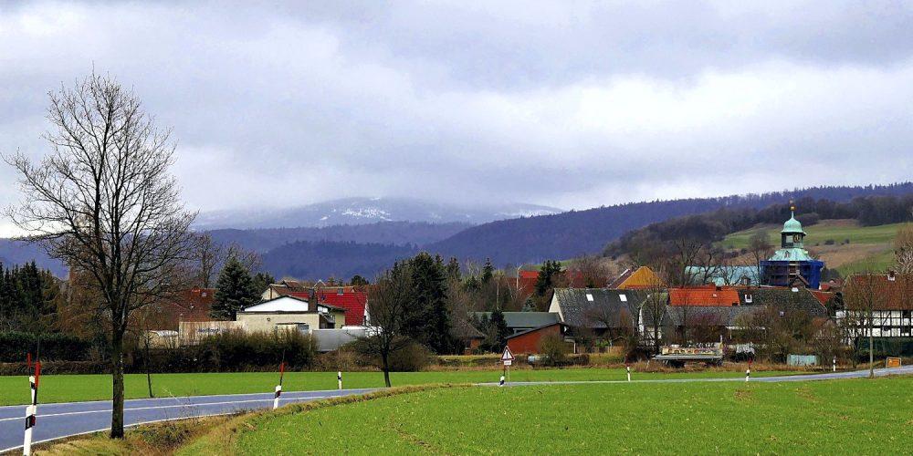 Schneebedeckter Brocken