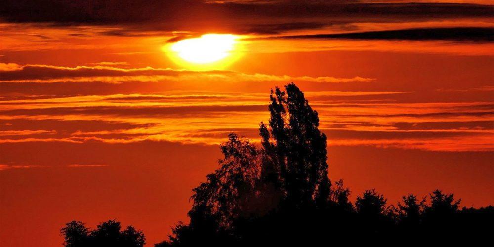 Sonnenaufgang über Bad Harzburg
