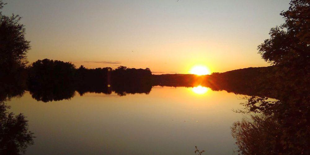 Sonnenuntergang am Vienenburger See