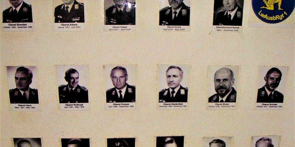 Kommandeure des Ende 2009 aufgelösten LwAusbRgt