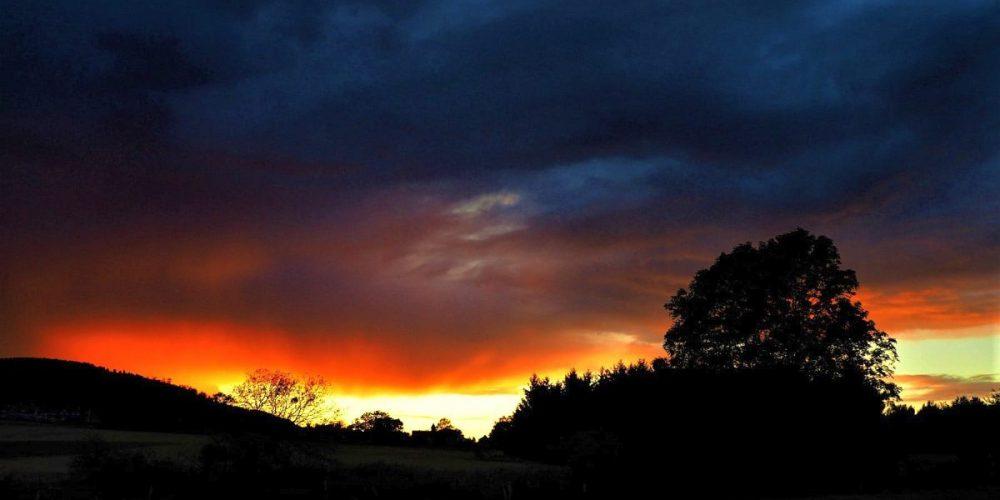 Sonnenuntergang über Göttingerode