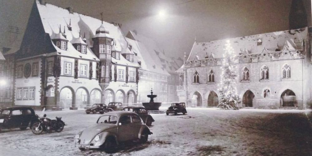 Marktplatz Goslar im Winter
