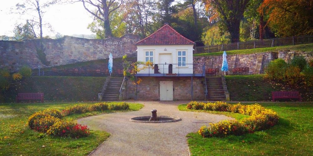 Das Teehaus in den Schlossgärten Blankenburg