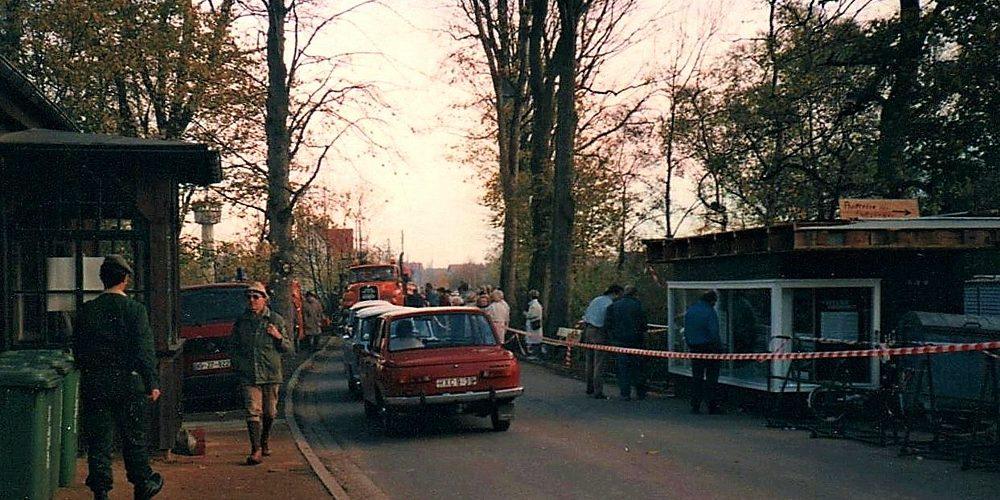 Grenzübergang bei Eckertal 1989