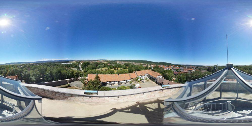 360°-Foto vom Bergfried der Burg Vienenburg