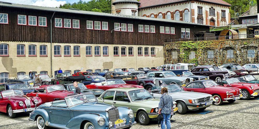 ADAC-Klassik-Rallye 2019 am Goslarer Bergbaumuseum Rammelsberg