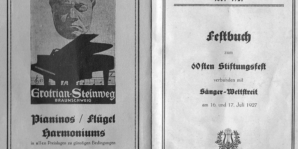 Festbuch vom Männergesangsverein Arion Goslar