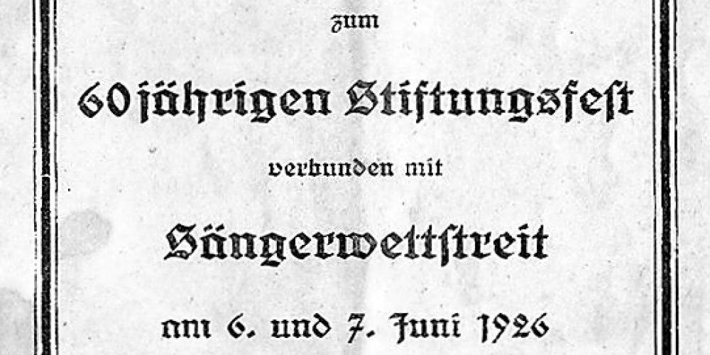 Festbuch vom Männergesangsverein Bündheim – Harzburg
