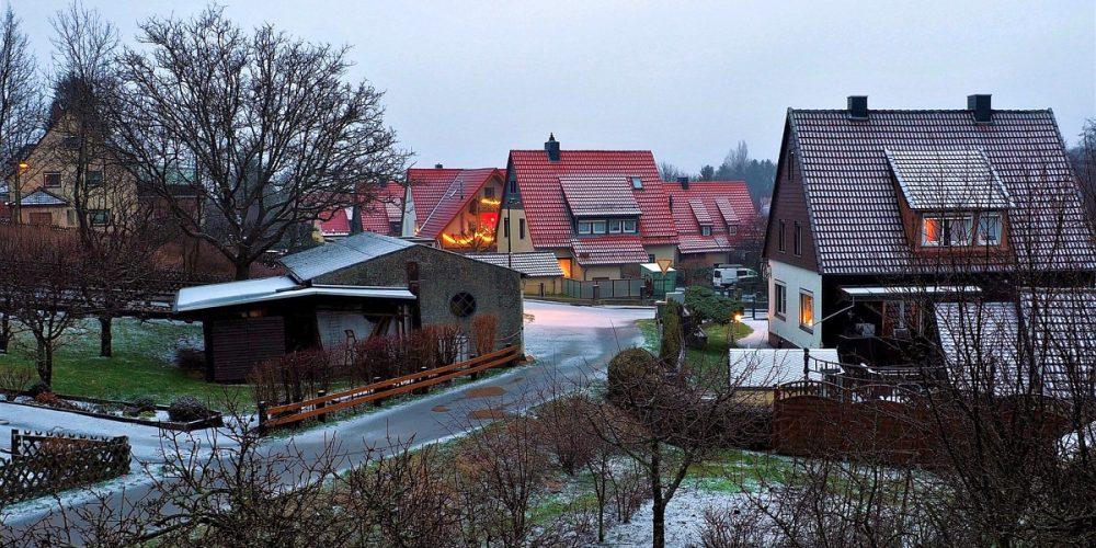 Erster Schnee im neuen Jahr in Bad Harzburg